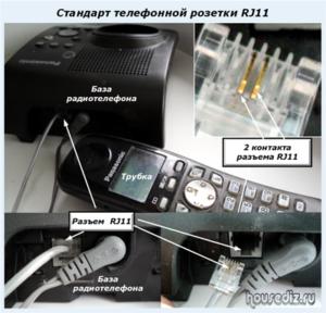 Розетка телефонная rj 11 схема