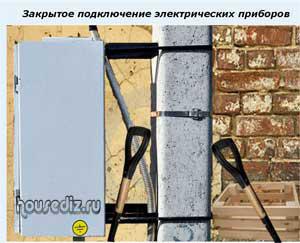 Закрытое подключение электрических приборов