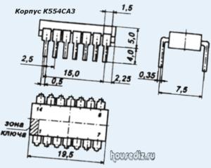 Корпус К554СА3