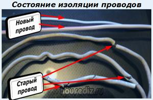 Состояние изоляции проводов