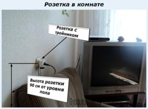 Розетка в комнате