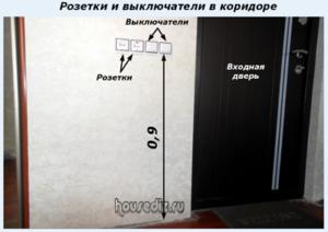 Розетки и выключатели в коридоре