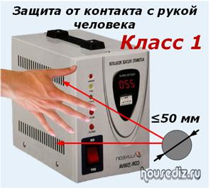 Защита от контакта с рукой человека