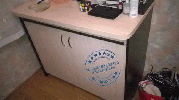 Комод с полкой для ноутбука