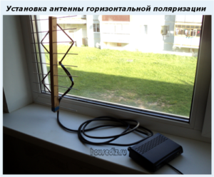 Установка антенны горизонтальной поляризации