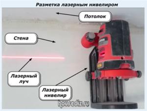 Разметка лазерным нивелиром
