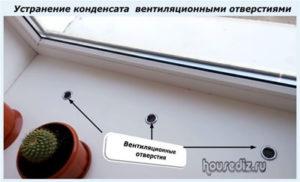 Устранение конденсата вентиляционными отверстиями