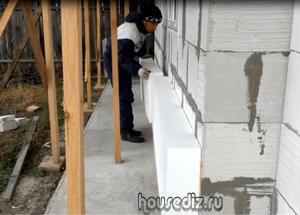 Пенопласт в утеплении здания