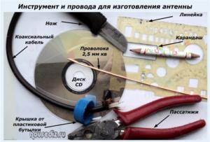 Инструмент и провода для изготовления антенны