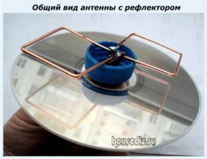 Общий вид антенны с рефлектором