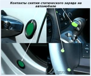 Контакты снятия статического заряда на автомобиле