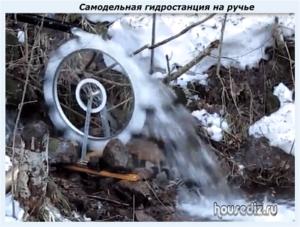 Самодельная гидростанция