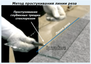 Метод простукивания линии реза