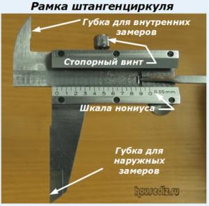 Рамка штангенциркуля