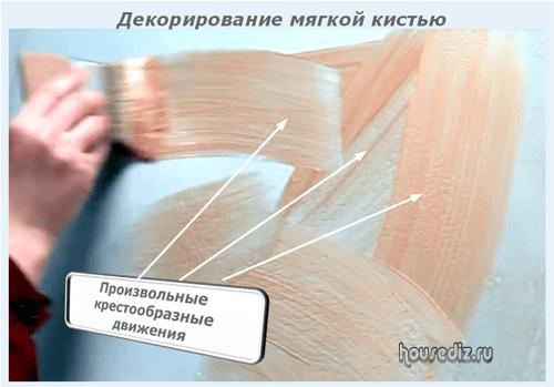 Декорирование мягкой кистью