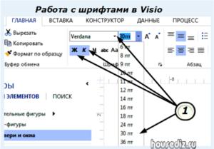 Работа с шрифтами в Visio