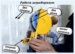 Работа штроборезом