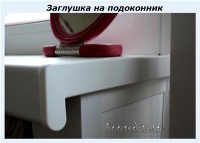 Заглушка на подоконник