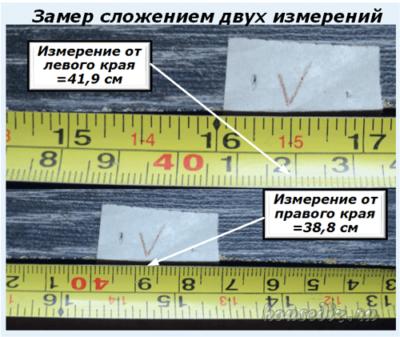 Замер сложением двух измерений