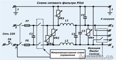 Схема сетевого фильтра Pilot