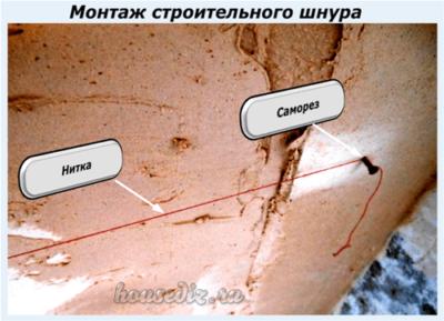 Монтаж строительного шнура