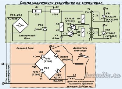 Схема сварочного устройства