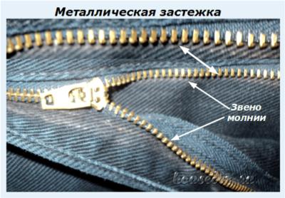 Металлическая застежка
