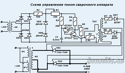 управления тиристорная током схема