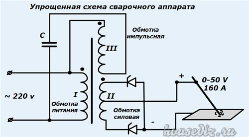 Схема тиристорного сварочного аппарата
