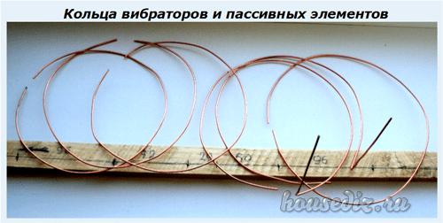 Кольца вибраторов и пассивных элементов