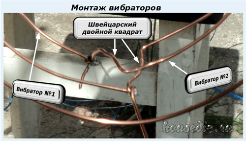 Монтаж вибраторов