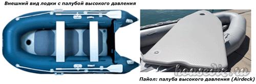 Лодка пвх с пайолом